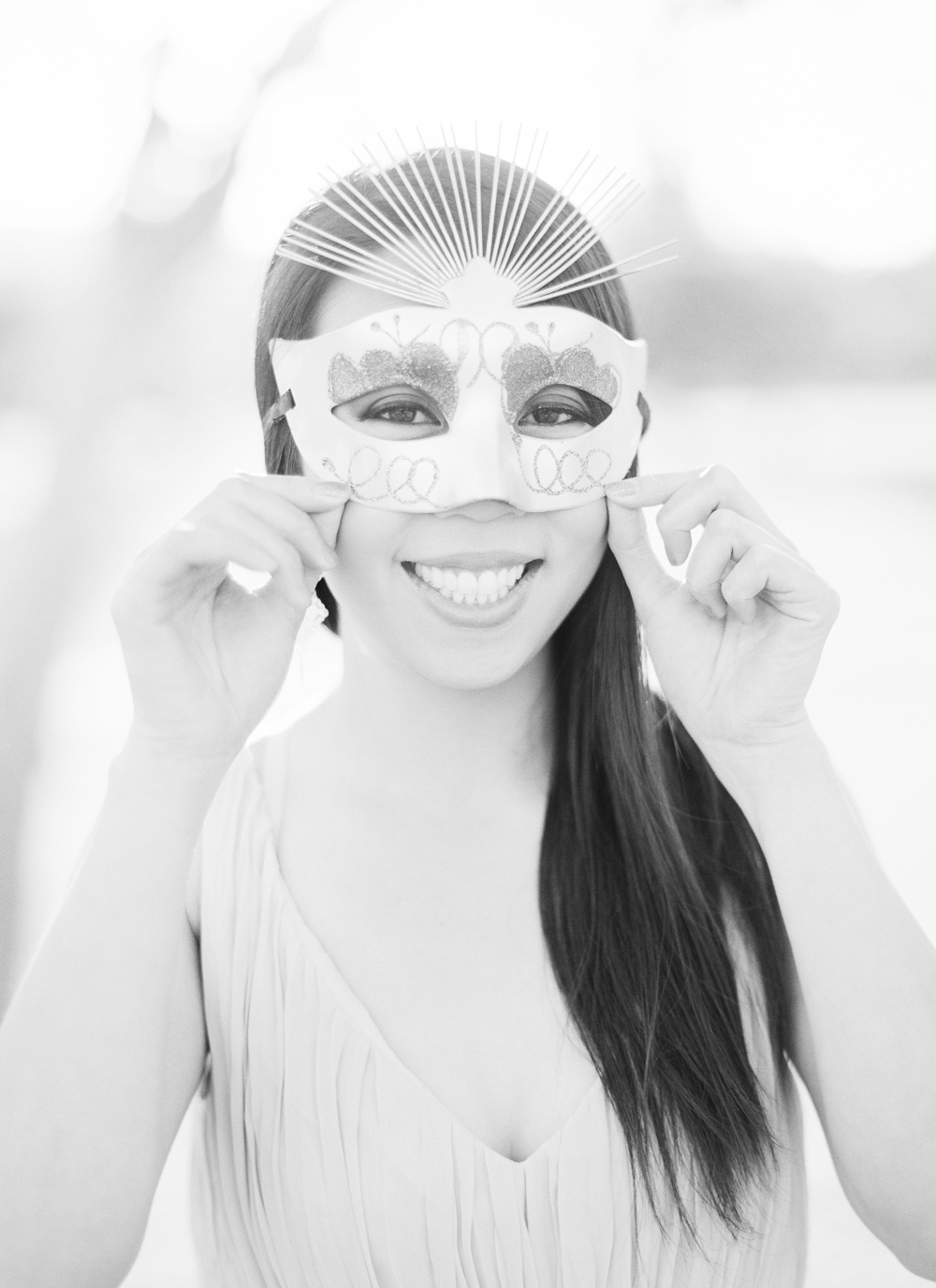 Event Guests Accessorizes with Mask