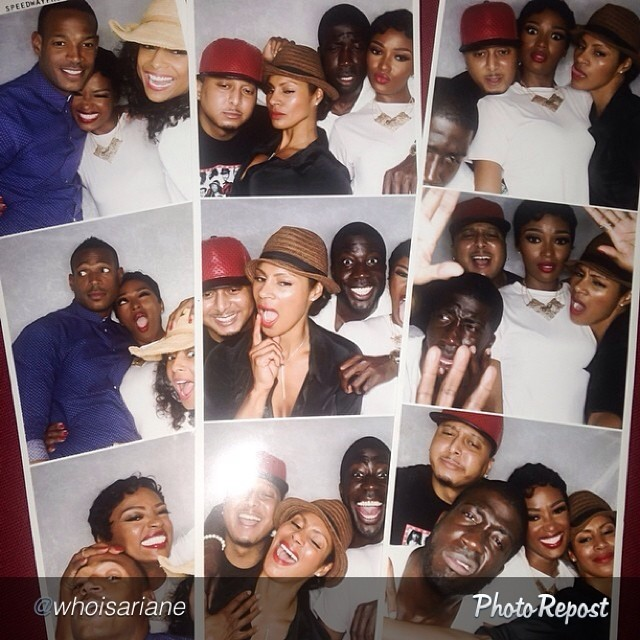 Photo Strip Prints of Marlon Wayans and Guests in the Photo Booth
