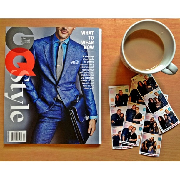 Photo Strips and a Copy of GQ Style