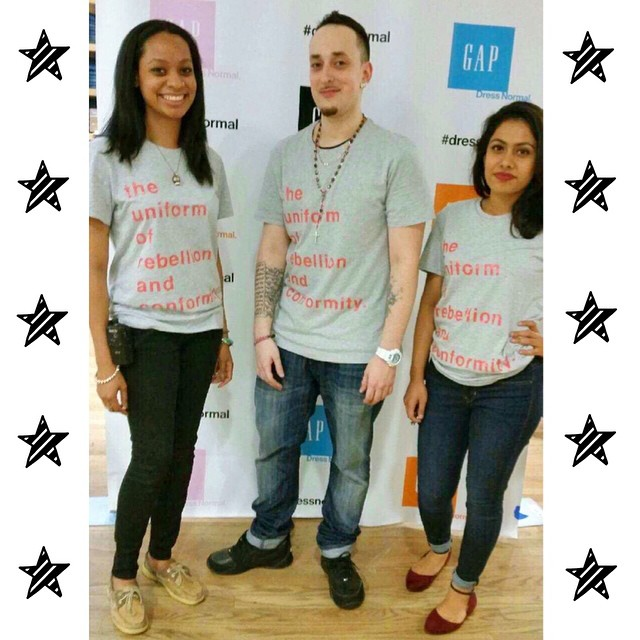 GAP Employees Wear Matching Typography Tees
