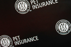 Black and White Backdrop with AKC Pet Insurance Logo