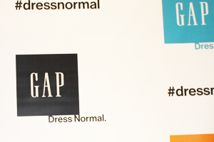 GAP Repeats Their Logo and Hashtag for a Colorful Promotion
