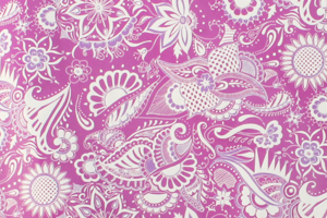 Paisley Fabric Ties in with the Purple Wedding Theme