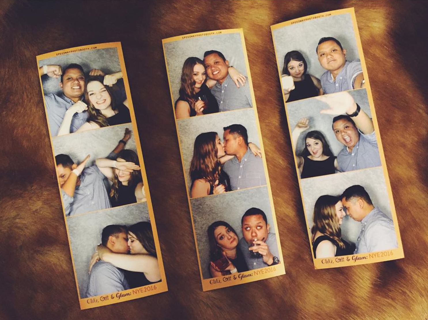 A Couple Show Off Their Custom Photo Strips