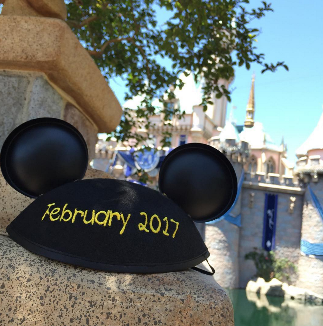 A Mickey Ears Hat Reveals the Date of Monica and David's Baby
